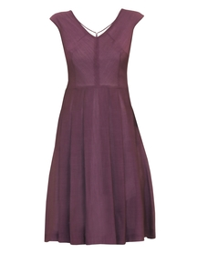 Sukienka z wiskozy z dołem w zakładki