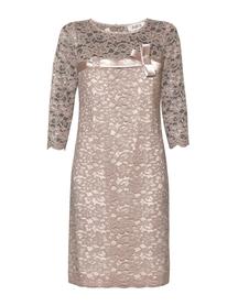 Sukienka prosta koronkowa z przeplotem z jedwabiu