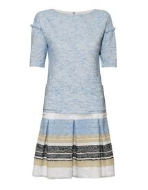 Sukienka z bawełny bukle z  dołem w konterki