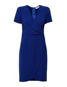 Sukienka zakładana - kobaltowa