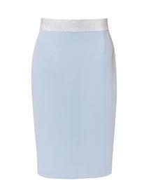 Spódnica  błękitna klasyczna z gumą.