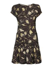 Sukienka z lekkiej tkaniny w kwiatowy wzór z falbanką