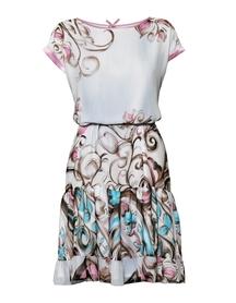 Sukienka luzna  z szyfonu z paskiem