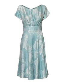 Sukienka z mieszanki jedwabiu i wiskozy - szeroki dół