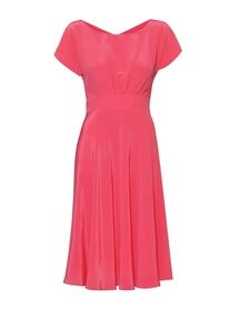 Sukienka z jedwabiu z szerokim dołem