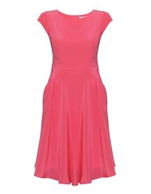 Sukienka z jedwabiu z marszczeniem z przodu.