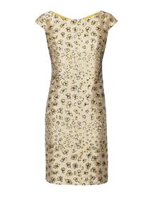 Sukienka z tafty złotej haftowanej