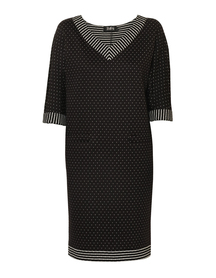 Sukienka kimonowa czarno-biała