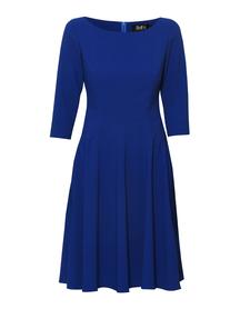 Sukienka szafirowa szeroki dół