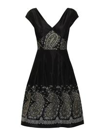 Sukienka z czarnej tafty ze szlakiem