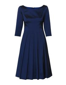Sukienka szeroka z lekkiej tafty