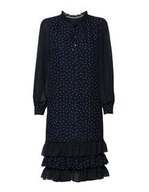 Sukienka z falbankami w różne groszki