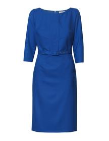 Sukienka z listwą niebieska