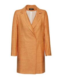 Płaszczyk z mieszanki lnu i bawełny w kolorze pomarańczowym