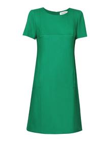 Zielona sukienka trapezowa
