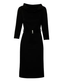 Prosta sukienka z golfem w kolorze czarnym