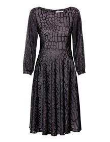 Sukienka z lekkiej szyfonowej  wiskozy -ciemno  szara
