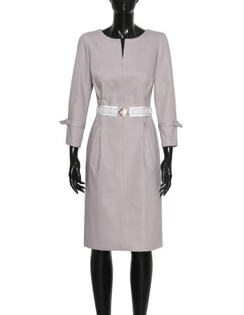 Sportowa sukienka z bawełny- szara (5)