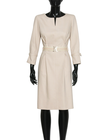 Sukienka sportowa bawełniana beżowa (5)