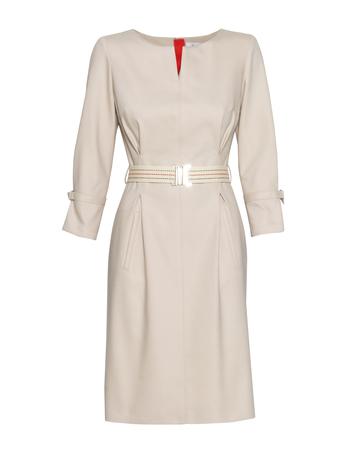 Sukienka sportowa bawełniana beżowa (3)