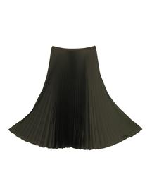 Spódnica plisowana khaki