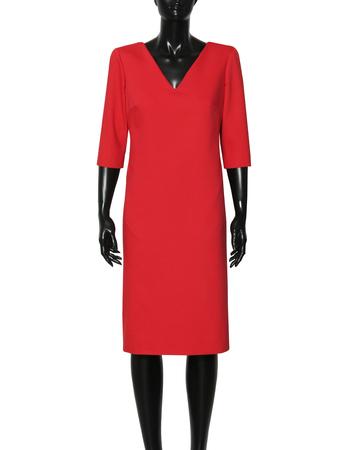 Prosta z bawełny czerwona (5)
