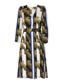 Sukienka z szyfonu w pasy