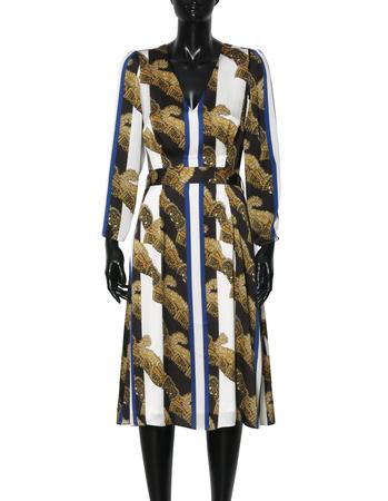 Sukienka z szyfonu w pasy (5)