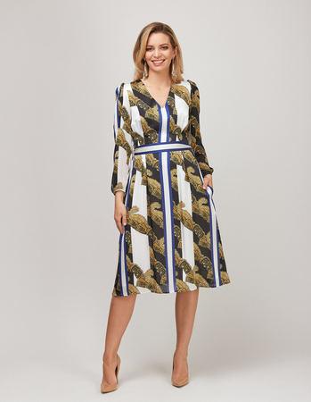 Sukienka z szyfonu w pasy (1)