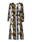 Sukienka z szyfonu w pasy (3)