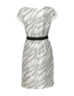 Sukienka z haftowanego szantungu z jedwabiu. (2)