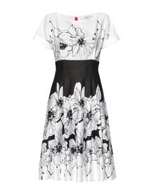 Urocza sukienka z cienkiej bawełny czarno-białej