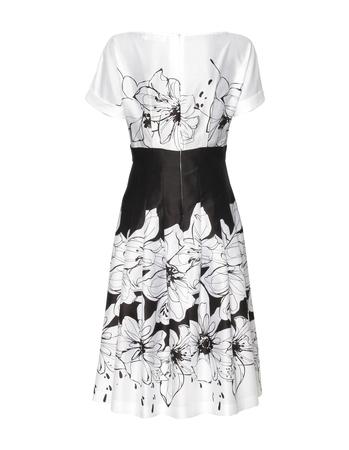 Urocza sukienka z cienkiej bawełny czarno-białej (4)