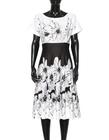 Urocza sukienka z cienkiej bawełny czarno-białej (5)
