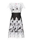 Urocza sukienka z cienkiej bawełny czarno-białej (3)