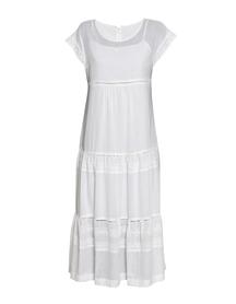 Długa biała  z cienkiej bawełny z haftem