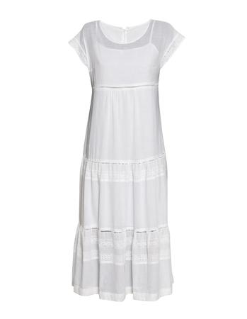Długa biała  z cienkiej bawełny z haftem  (1)