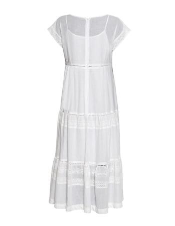 Długa biała  z cienkiej bawełny z haftem  (2)
