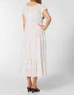 Długa biała  z cienkiej bawełny z haftem  (3)