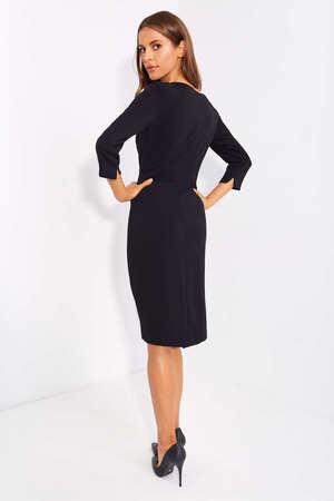 Sukienka z drapowaniem z boku- czarna (3)
