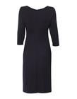 Sukienka z drapowaniem z boku- czarna (5)