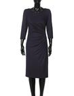 Sukienka z drapowaniem z boku- czarna (6)