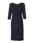 Sukienka z drapowaniem z boku- czarna (4)