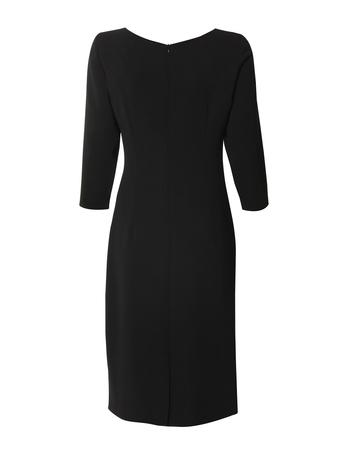 Sukienka z drapowaniem z boku - granatowa (2)