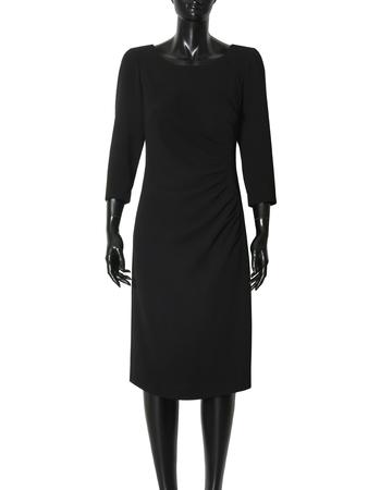 Sukienka z drapowaniem z boku - granatowa (3)