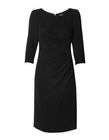 Sukienka z drapowaniem z boku - granatowa (1)
