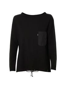 Bluzka oversizowa czarna
