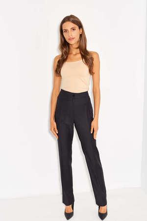 Spodnie z czarnej wizytowej wełny (2)