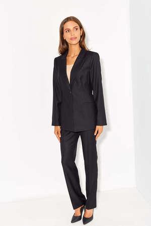 Spodnie z czarnej wizytowej wełny (1)
