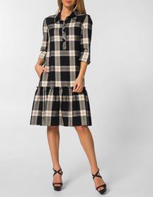 Sukienka z lekkiej  kraty z falbanką